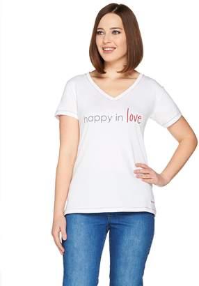 Peace Love World Pima Cotton Affirmation Knit Top