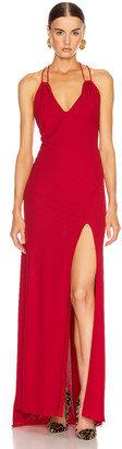 Redemption Jersey Crepe Long Dress in Red | FWRD