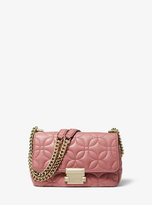 MICHAEL Michael Kors Sloan Small Floral Quilted Leather Shoulder Bag