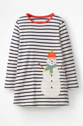 Next Girls Boden Navy Festive Appliqué Tunic