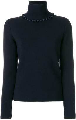 Thom Browne Bridal Button Fine Merino Turtleneck