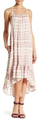 Love Stitch Spaghetti Strap Ruffled Hem Dress