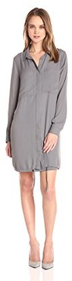 kensie Women's Drapey Crepe Shirt Dress with Pockets $42.14 thestylecure.com