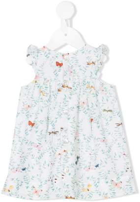 Tartine et Chocolat butterfly and dragonfly foliage print dress