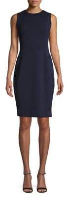 Calvin Klein Sleeveless Scuba Crepe Dress