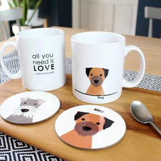 Heather Alstead Design Personalised Dog Coaster And Mug Set