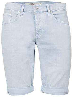 Light Blue Stretch Skinny Chino Shorts $20 thestylecure.com