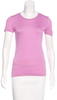 Giorgio Armani Short Sleeve Scoop Neck Top