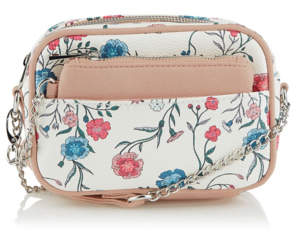 George White Floral Cross-Body Bag and Coin Purse