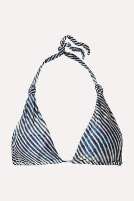 Vix Corales Bia Printed Triangle Bikini Top - Blue