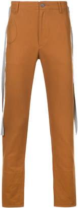 Undercover grosgrain tape trousers
