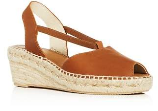 Andre Assous Women's Dainty Suede Platform Wedge Espadrille Sandals