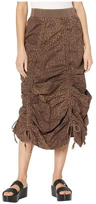 XCVI Leopard Maxi Skirt in Lynx Printed Poplin
