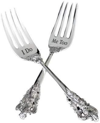 Lillian Rose I Do and Me Too Two Fork Set