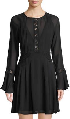 Astr Katrina Bell-Sleeve Midi Dress
