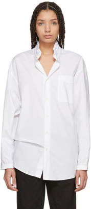 Marni White Corean Neck Shirt