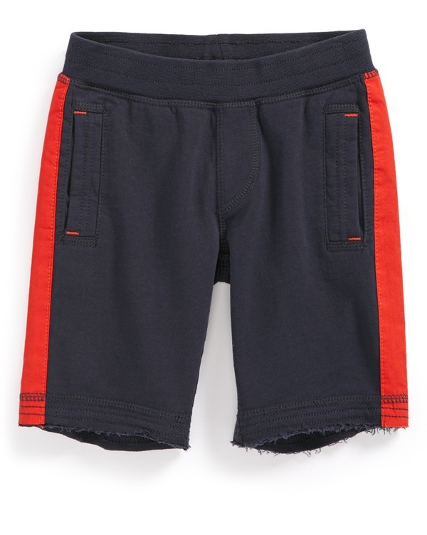 Tea Collection Side Stripe Gym Shorts (Toddler Boys)