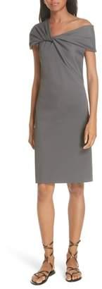 Helmut Lang Twist Neck Ribbed Dress