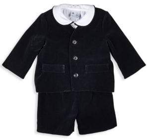 Florence Eiseman Baby Boy's Three-Piece Velvet Eton Suit
