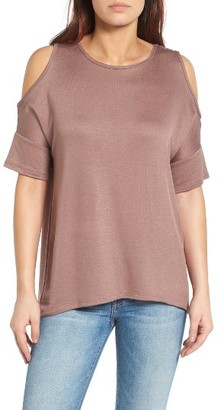 Women's Bobeau High/low Cold Shoulder Sweatshirt $49 thestylecure.com