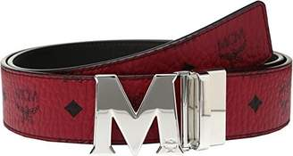 MCM Men's Claus Reversible Silver Buckle Belt