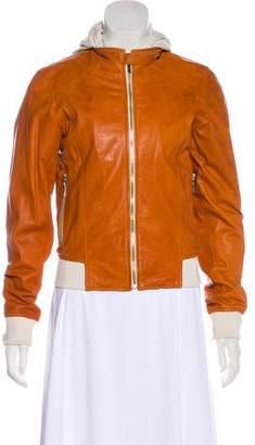 Biella Collezioni Layered Leather Jacket