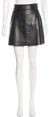 Alice + Olivia Leather Mini Skirt w/ Tags