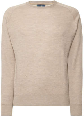 Dunhill Links - Herringbone Cashmere, Silk and Hemp-Blend Sweater - Men - Beige