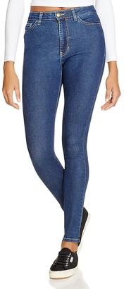 American Apparel Stretch Denim Pencil Jeans in Dark Stone Washed Indigo $94 thestylecure.com