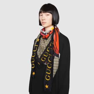 Gucci GG modal shawl with monkey