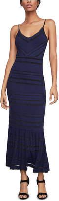 BCBGMAXAZRIA Fringe-Trim Maxi Dress