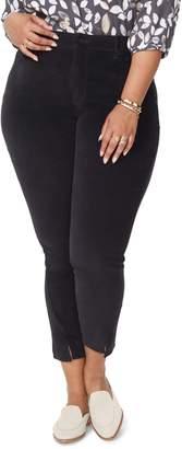NYDJ Ami Twist Seam Ankle Slit Velvet Pants