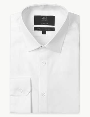 M&S CollectionMarks and Spencer Cotton Rich Shirt with Stretch