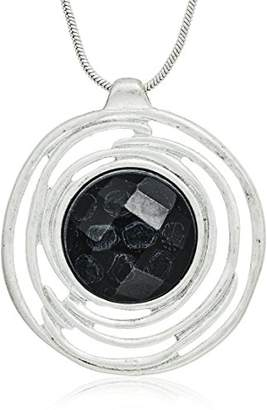 The Sak Stone Halo Pendant Necklace