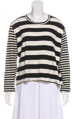 The Great Striped Long Sleeve Top