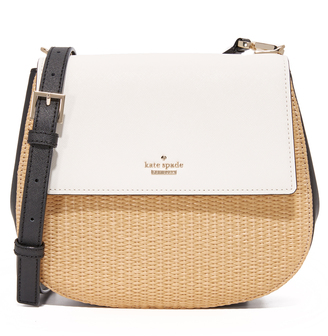 Kate Spade New York Straw Byrdie Saddle Bag $278 thestylecure.com
