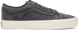 Vans Grey Nubuck Old Skool Lite LX Sneakers $120 thestylecure.com