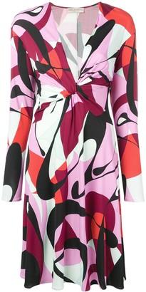 Emilio Pucci Alex Print Plunge Front Dress