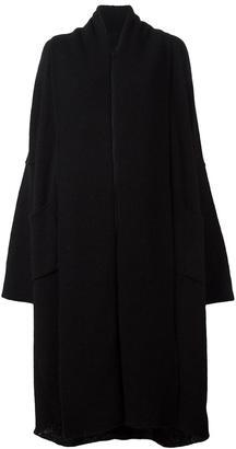 Yohji Yamamoto oversized cardi-coat $1,266 thestylecure.com