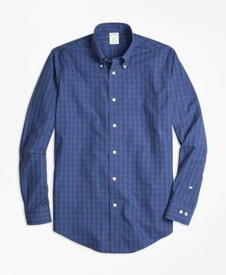 Brooks Brothers Non-Iron Milano Fit Windowpane Sport Shirt