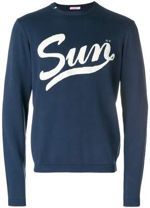 Sun 68 sponge word sweatshirt