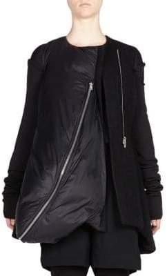Rick Owens Asymmetrical Front Zip Jacket