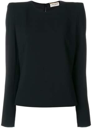Saint Laurent structured shoulder blouse