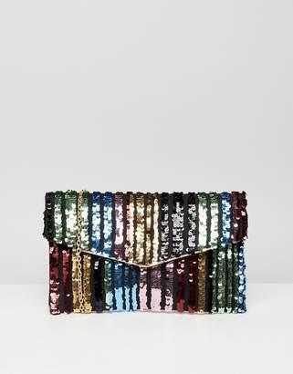 New Look Rainbow Clutch Bag