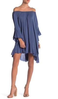 Elan International Off-the-Shoulder Bell Sleeve Dress
