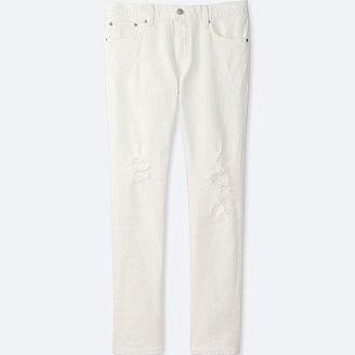 UNIQLO Men's Slim Fit Damaged Jeans $49.90 thestylecure.com