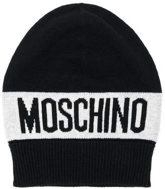 Moschino Kids logo beanie hat