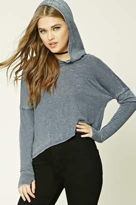 Forever 21 Slub Knit Hooded Sweater