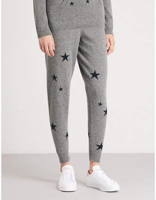 Chinti and Parker Star-intarsia cashmere jogging bottoms
