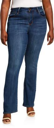 Seven7 Jeans Plus Size Mid Rise Micro Boot-Cut Jeans